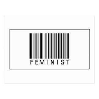 Barcode-Feminist Postkarte