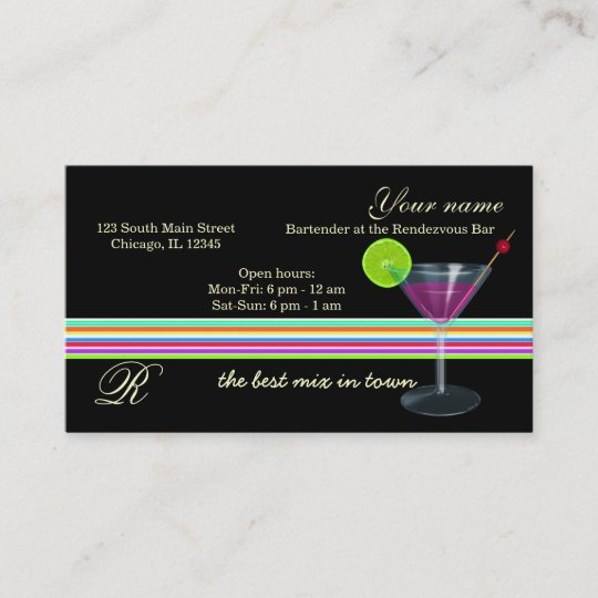 Barkeeper Inhaber Bar Visitenkarte Zazzle At