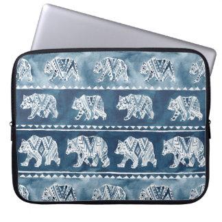 BÄRN-GEIST Marine Boho Stammes- Muster Laptop Sleeve