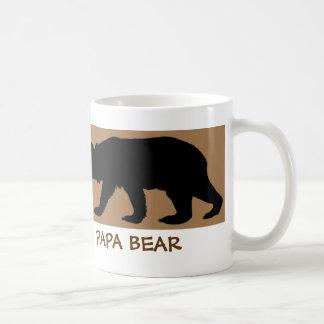 Bärn-Silhouette-Tasse liest: PAPA-BÄR Tasse
