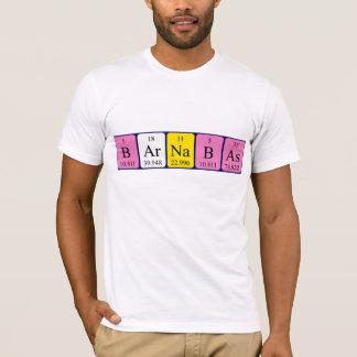 Barnabas Namen-Shirt periodischer Tabelle T-Shirt