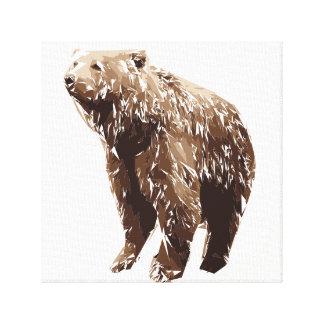 Bärnpolygon-Kunstillustration Leinwanddruck
