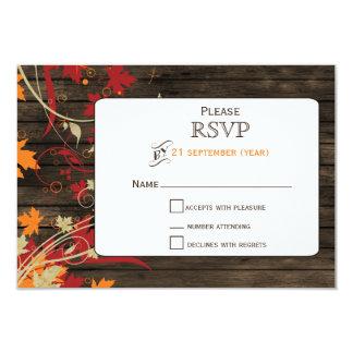 Barnwood rustikal, Herbstlaub, der UAWG 3,5 x 5 8,9 X 12,7 Cm Einladungskarte