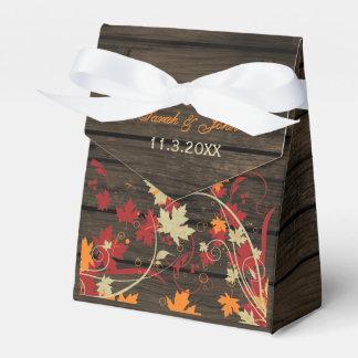 Barnwood rustikal Herbstlaub-Gastgeschenk Geschenkschachtel