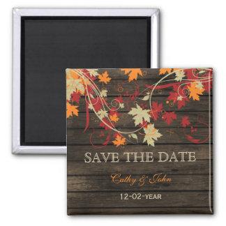 Barnwood rustikal Herbstlaub Save the Date Magnets