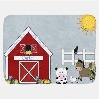 Barnyard-Tiere, Bauernhof, Gewohnheit Kinderwagendecke