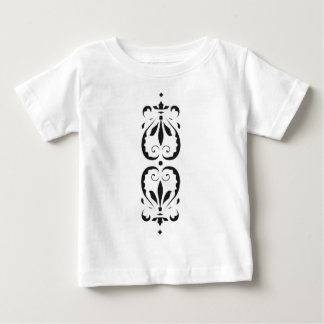 Barock florales klassisches muster schwarz print baby t-shirt