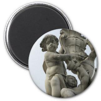 Barocke Engel Runder Magnet 5,1 Cm