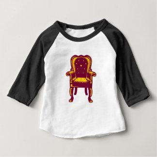 Barocker großartiger Arm-Stuhl-Holzschnitt Baby T-shirt