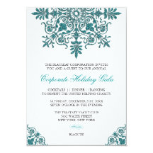 Barockes Türkis-Glitter-Blick-Feiertags-Party 11,4 X 15,9 Cm Einladungskarte
