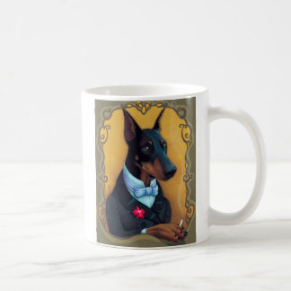 Baron von Hundeknochen - Dobermann Kaffeetasse