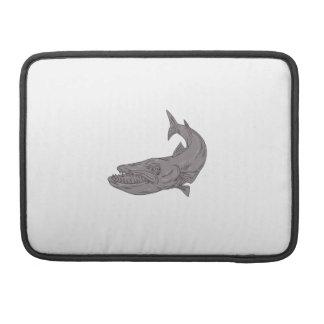 Barracuda, der hinunter das Zeichnen schwimmt Sleeve Für MacBooks
