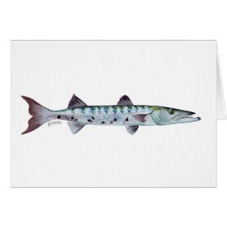 Barracudafisch-Grußkarte