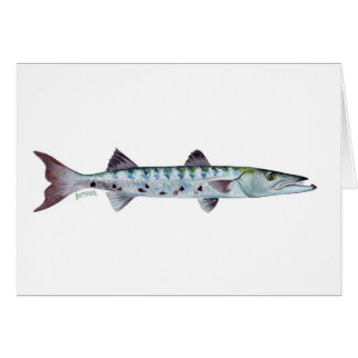Barracudafisch-Grußkarte Grußkarte