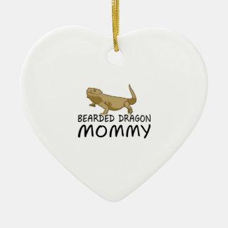 Bärtige Drache-Mama Keramik Ornament