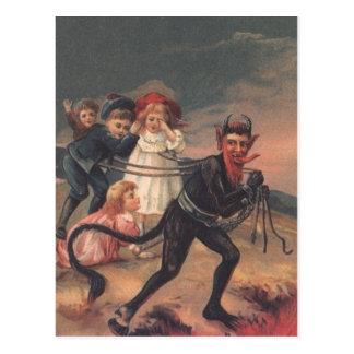 Bärtiges Krampus Postkarte