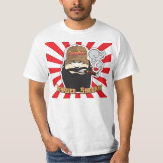 Bärtiges Samurai-Zigarredojo-Shirt T-Shirt