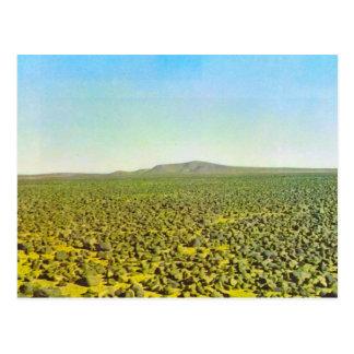 Basaltwüste an Djebel es Soda, Libyen Postkarte