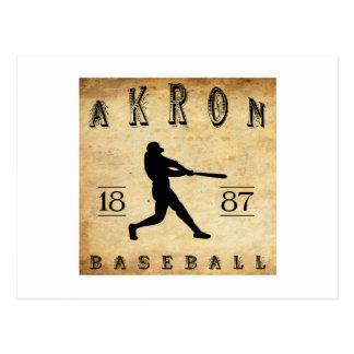 Baseball 1887 Akrons Ohio Postkarte