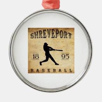 Baseball 1895 Shreveports Louisiana Rundes Silberfarbenes Ornament