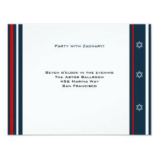 Baseball-Bar Mitzvah Empfang 10,8 X 14 Cm Einladungskarte