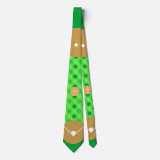 Baseball-Diamant Vogel-Auge Individuelle Krawatte