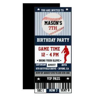 Baseball-Geburtstags-Karten-Einladung 10,2 X 23,5 Cm Einladungskarte