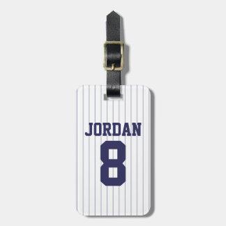 Baseball Jersey mit Zahl Kofferanhänger