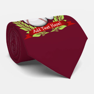 Baseball mit einer individuelle krawatten