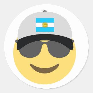 Baseball-Mütze Argentiniens Emoji Runder Aufkleber