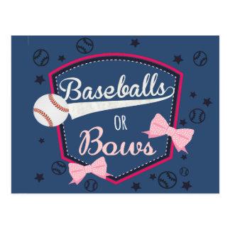 Baseball-oder Bögen Geschlecht decken auf Postkarte
