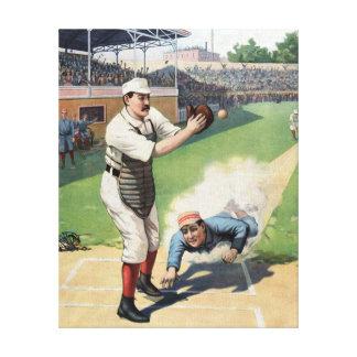 Baseball-Vintage Malerei Galerie Faltleinwand