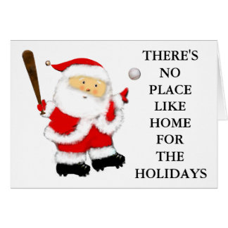 Baseball-Weihnachten Karte