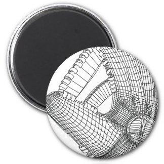 Baseballhandschuh Runder Magnet 5,7 Cm
