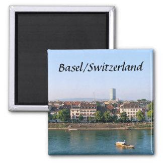 Basel/die Schweiz - Andenken-Magnet Quadratischer Magnet