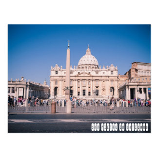 Basilika Sans Pietro in der Vatikanstadt Postkarte