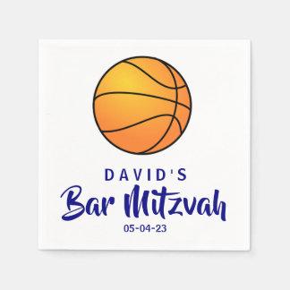 Basketball-Bar Mitzvah kundenspezifische Papierservietten