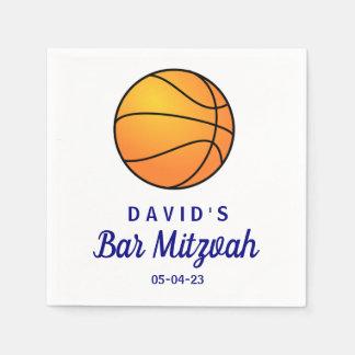 Basketball-Bar Mitzvah kundenspezifische Servietten