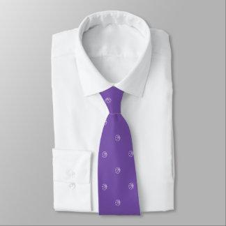 Basketball-Fan-königliches Lila Bedruckte Krawatten
