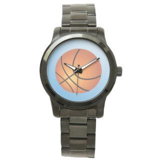 Basketball-Ikonen-Blau-Hintergrund Armbanduhr