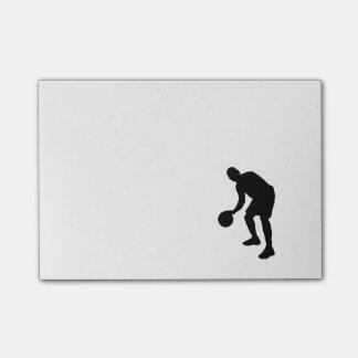 Basketball-Post-Itanmerkungen Post-it Klebezettel