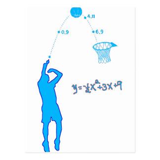 Basketball-Schuss und quadratische Gleichung Postkarte