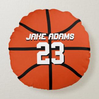 Basketball-Sport-Team-personalisiertes rundes Rundes Kissen