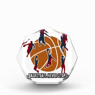 Basketball stoppt nie acryl auszeichnung