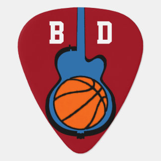 Basketball u. Gitarre, personalisierter Sport Plektron