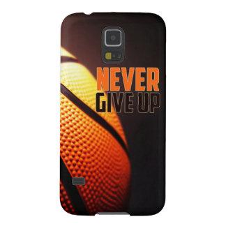 Basketballmotivation - geben Sie nie durch Samsung S5 Hülle