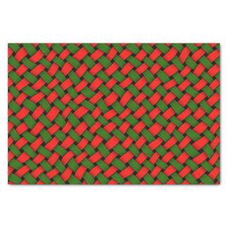 Basketweave Weihnachtsmuster Seidenpapier