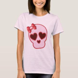 Batgirl Schädel mit Bogen T-Shirt
