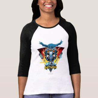 Batman auf Zyklus mit Logo T-Shirt
