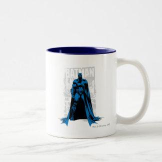 Batman-Comic - Vintages volles - Ansicht Zweifarbige Tasse
